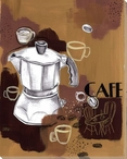 Bakery Cafe Wrapped Canvas Giclee Print Wall Art