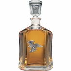 Bald Eagle Bird Capitol Glass Decanter with Pewter Accents