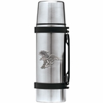 Bald Eagle Bird Stainless Steel Thermos with Pewter Accent