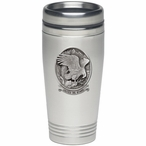 Bald Eagle Bird United We Stand Stainless Steel Travel Mug with Pewter