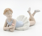 Ballerina Lying Down Porcelain Sculpture by Nadal