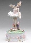 Ballerina with Flowers Musical Music Box Sculpture