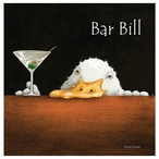 Bar Bill Absorbent Beverage Coasters by Will Bullas, Set of 12