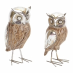 Barn Owl Bird Sculptures, Set of 4