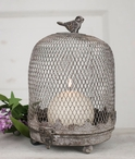 Barn Roof Cloche Birdcage Metal Pillar Candle Holder