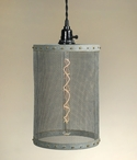 Barn Roof Mesh Hanging Pendant Lamp Light