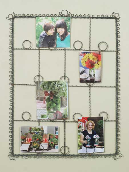 Barn Roof Twisted Wire Wall Photo Holders Picture Frames Set Of 2