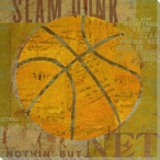 Basketball Wrapped Canvas Giclee Print Wall Art