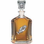 Bass Fish Capitol Glass Decanter with Pewter Accents