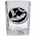 Bats Black Pewter Accent Shot Glasses, Set of 4
