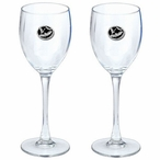 Bats Black Pewter Accent Wine Glass Goblets, Set of 2