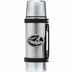 Bats Black Stainless Steel Thermos with Pewter Accent