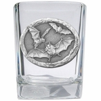 Bats Pewter Accent Shot Glasses, Set of 4