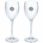 Bats Pewter Accent Wine Glass Goblets, Set of 2