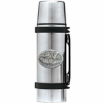 Bats Stainless Steel Thermos with Pewter Accent