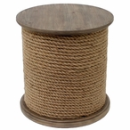 Baytowne Rope and Wood Accent Table