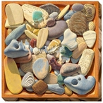 Beach Comber Shore Rocks Wrapped Canvas Giclee Print Wall Art