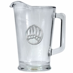 Bear Paw Glass Pitcher with Pewter Accent