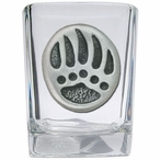 Bear Paw Pewter Accent Shot Glasses, Set of 4