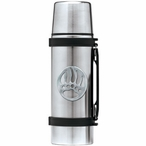 Bear Paw Stainless Steel Thermos with Pewter Accent