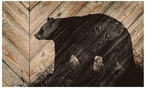Bear Silhouette Wood Sign