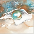 Beauty from Within Oyster with a Pearl Wrapped Canvas Giclee Art Print
