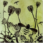 Bee Flight Wrapped Canvas Giclee Print Wall Art