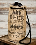 Beer City Stonewashed Canvas Growler Tote Bag