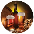 Beer Still Life Round Absorbent Beverage Coasters, Set of 8