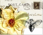 Bees Butterflies & Postcards I Wrapped Canvas Giclee Print Wall Art