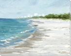 Before the Crowd Beach Scene 1 Wrapped Canvas Giclee Print