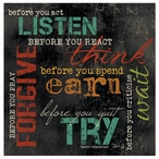 Before You... Absorbent Beverage Coasters, Set of 12