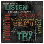 Before You… Absorbent Beverage Coasters, Set of 8