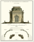 Belvedere Palace II Plan Wrapped Canvas Giclee Art Print Wall Art