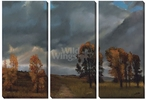 Big Sky Coming Storm Wrapped Canvas Giclee Print, Set of 3