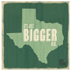 Bigger Here Absorbent Beverage Coasters by Life Is Country, Set of 12