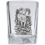 Bighorn Sheep Pewter Accent Shot Glasses, Set of 4