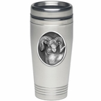 Bighorn Sheep Stainless Steel Travel Mug with Pewter Accent