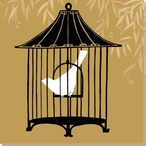 Birdcage Silhouette I Wrapped Canvas Giclee Print Wall Art