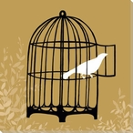 Birdcage Silhouette II Wrapped Canvas Giclee Print Wall Art