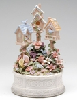Birdhouse Garden Musical Music Box Sculpture