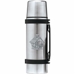 Birdhouse Stainless Steel Thermos with Pewter Accent
