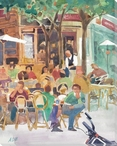 Bistro Wrapped Canvas Giclee Print Wall Art
