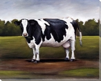 Black and White Dairy Cow Wrapped Canvas Giclee Print Wall Art