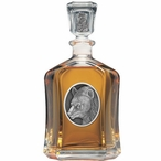 Black Bear Capitol Glass Decanter with Pewter Accents