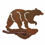 Black Bear Metal Toilet Paper Holder