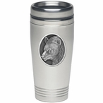 Black Bear Stainless Steel Travel Mug with Pewter Accent
