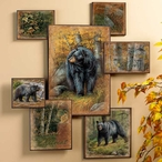 Black Bear Wall Collage Wall Art