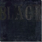 """Black"" Block Wrapped Canvas Giclee Print Wall Art"