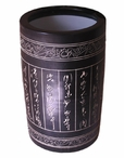 Black Carved Word Porcelain Umbrella Stand